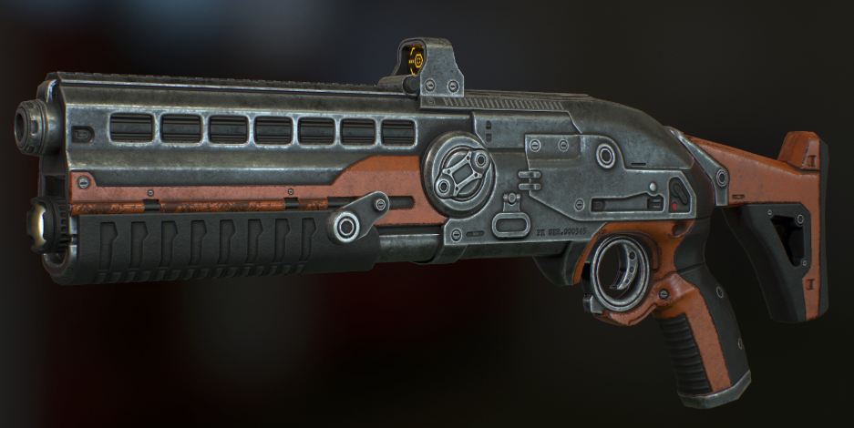 The Phoenix Project Shotgun, fully modelled and textured