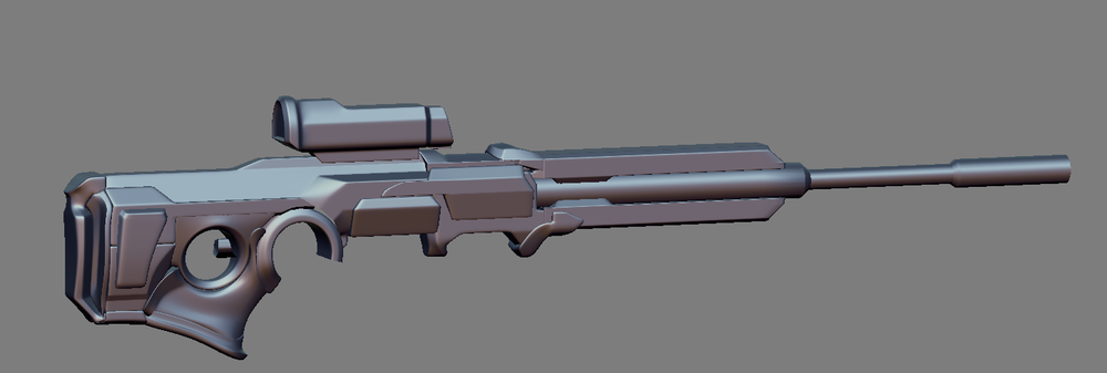 The 3D model for the Phoenix Project Sniper Rifle