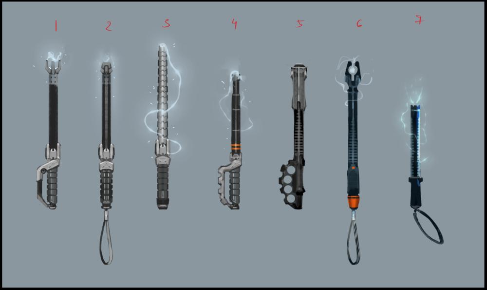 A selection of concepts for the Stun Rod