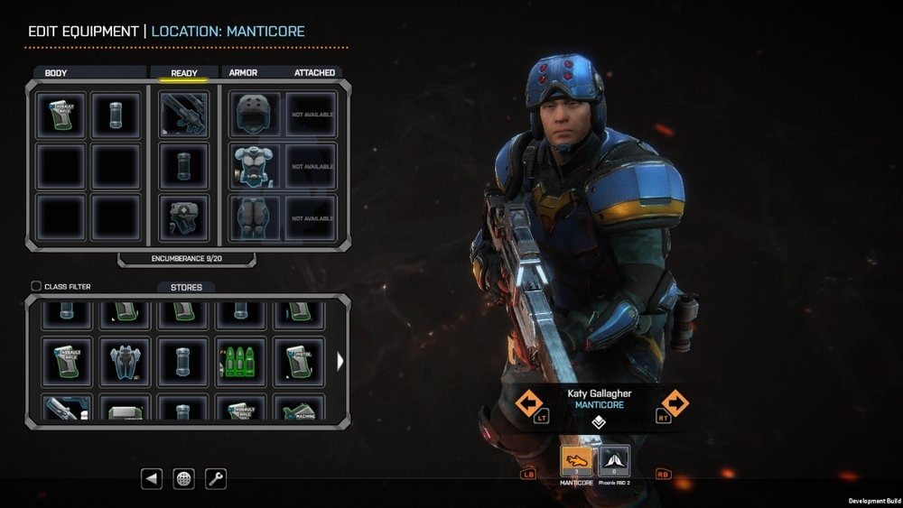 The Loadout screen