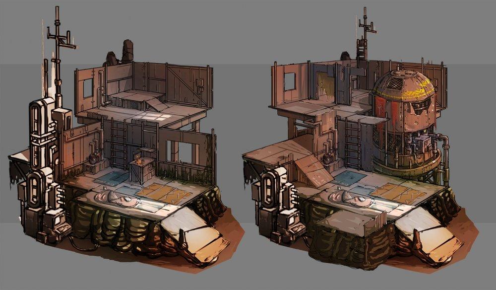 Slum housing interiors