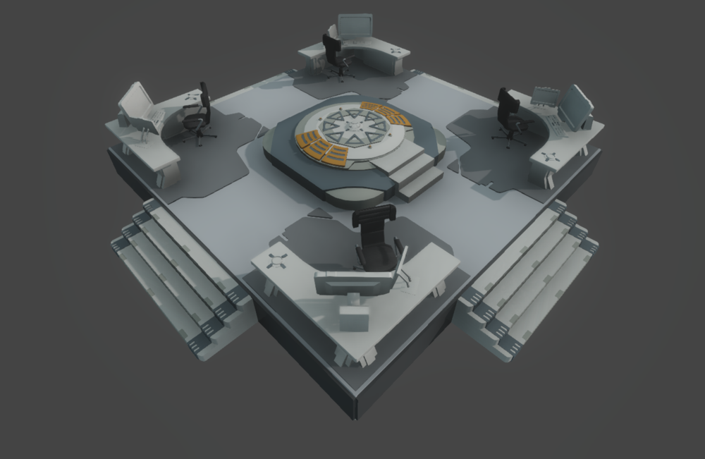 The security room 3D model