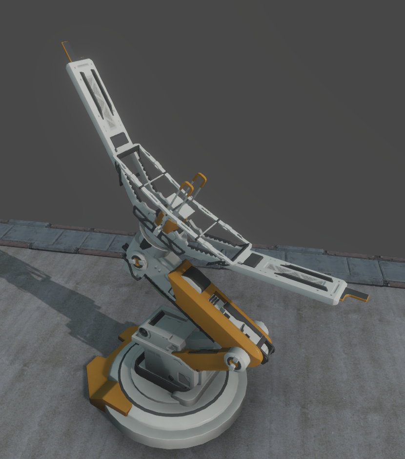 The satellite uplink in 3D glory (awaiting textures)