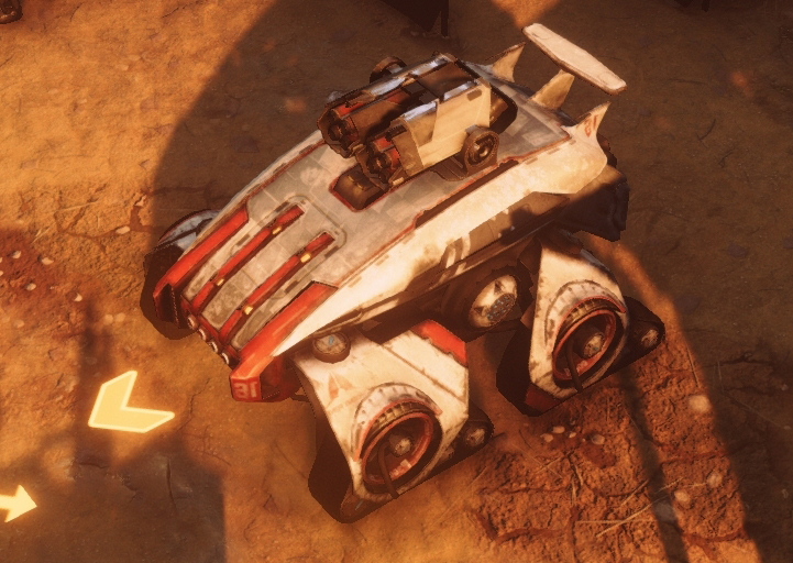 The Scarab with rocket launcher