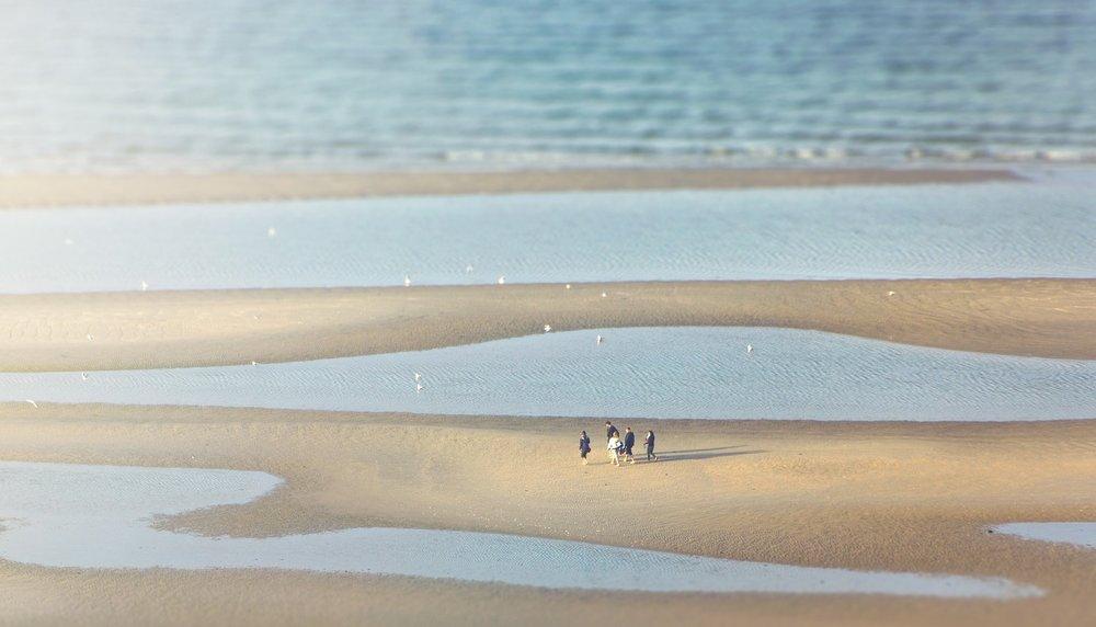 Sandbanks in the nature reserve Laboe