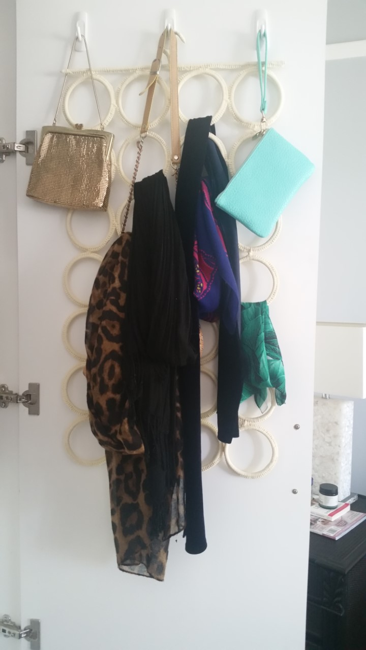 My accessories part of the very small wardrobe I have
