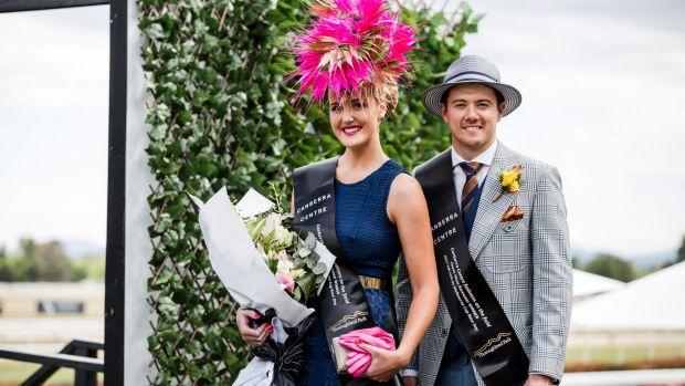 Fashions on the field winners Cobie Sheehan and Joshua Burgess.