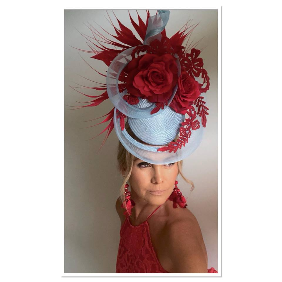 With Grace Millinery owner - Maria Benck in one of her stunning pieces