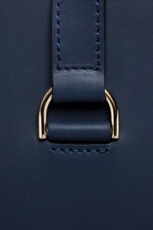 Navy leather with gold ... hello handsome