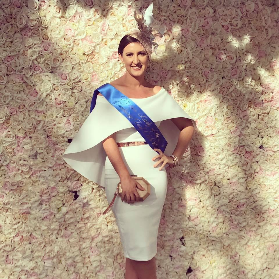 Stacey Reynolds showed tran-seasonal dressing at its finest, March 2017, Bunbury Races