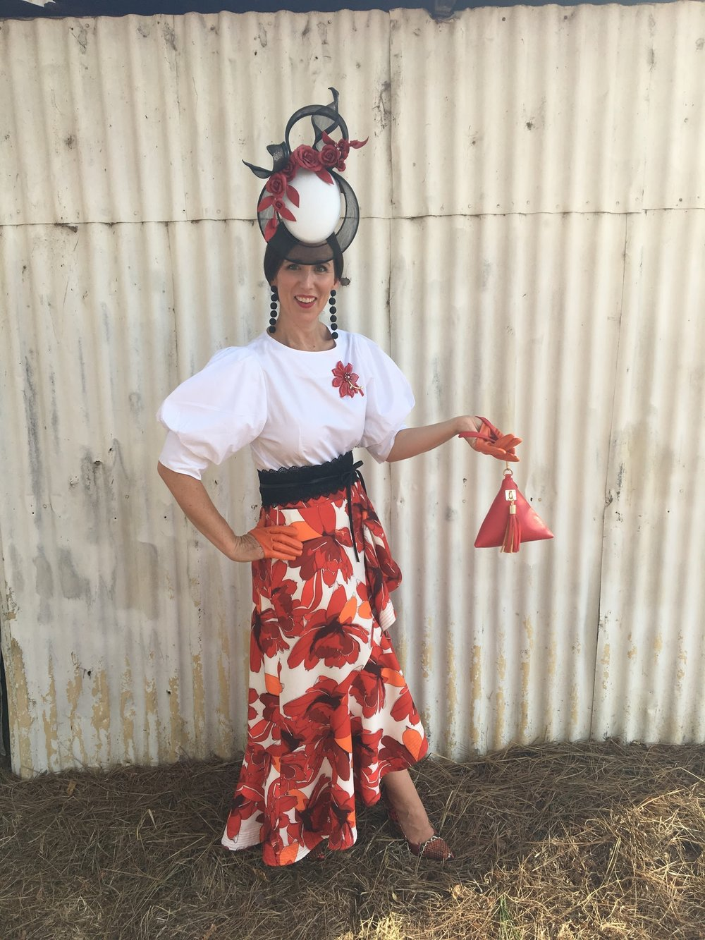 I recently attended a country NSW race meet wearing my Alloport millinery piece as mentioned in the previous blog