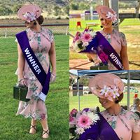 Leah looks stunning in this floral creation by Helen