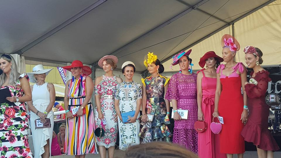 What a line up of bright and beautiful ladies!!!!!!!!!!!!!! Thurley, Only One Ashley, By Jonny and phenomenal new level millinery graced the stage.