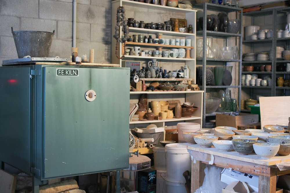 NZ Potters ACE firers in the studio where they make ceramics for the home, available to buy on our shop Kaolin.store