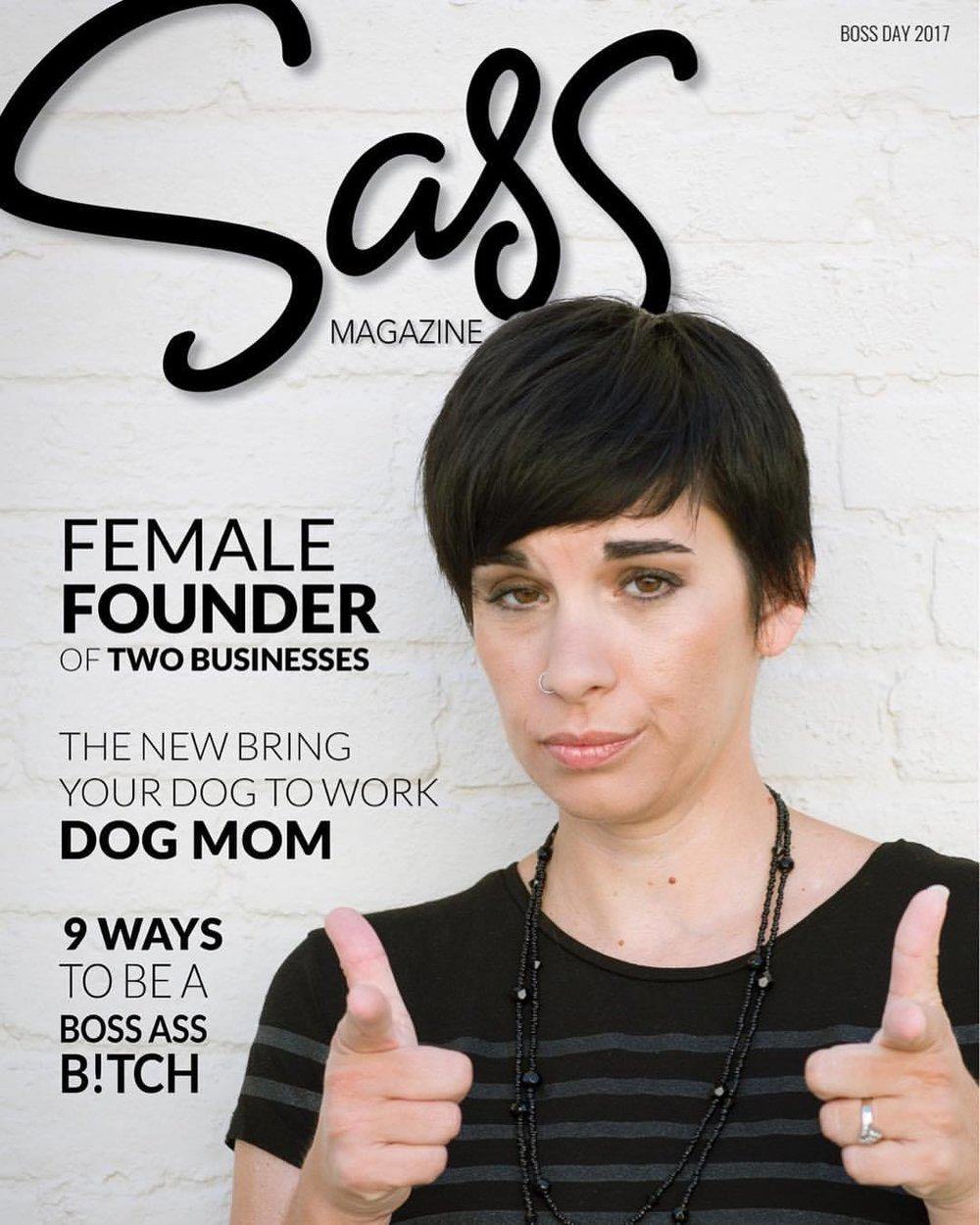 Sass Magazine Mock Cover with Kim Dow on cover