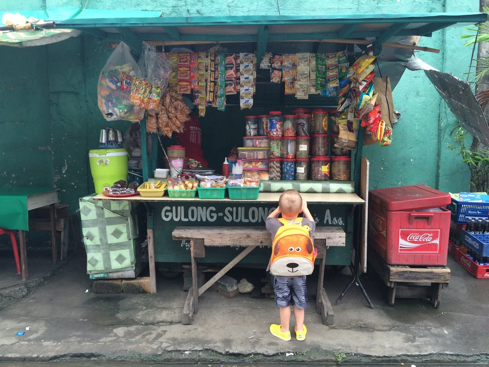 GULONG SULONG - Stopping for a snack on the walk home from big brother's school. 'Gulong Sulong' essentially means, 'rolling cart.'