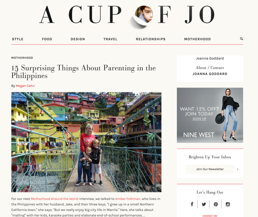 A Cup Of Jo  MOTHERHOOD AROUND THE WORLD  August 2017   r  ead more >>>
