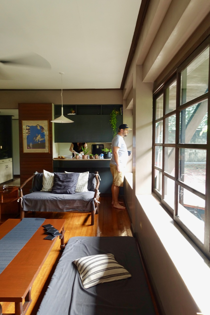 - NATURAL LIGHT                   The main room is flooded with natural and when peering out the window you are met with tree tops.