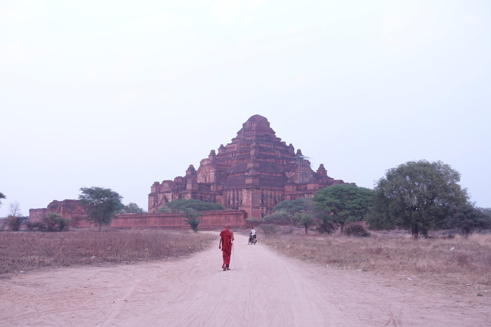 monk in bagan