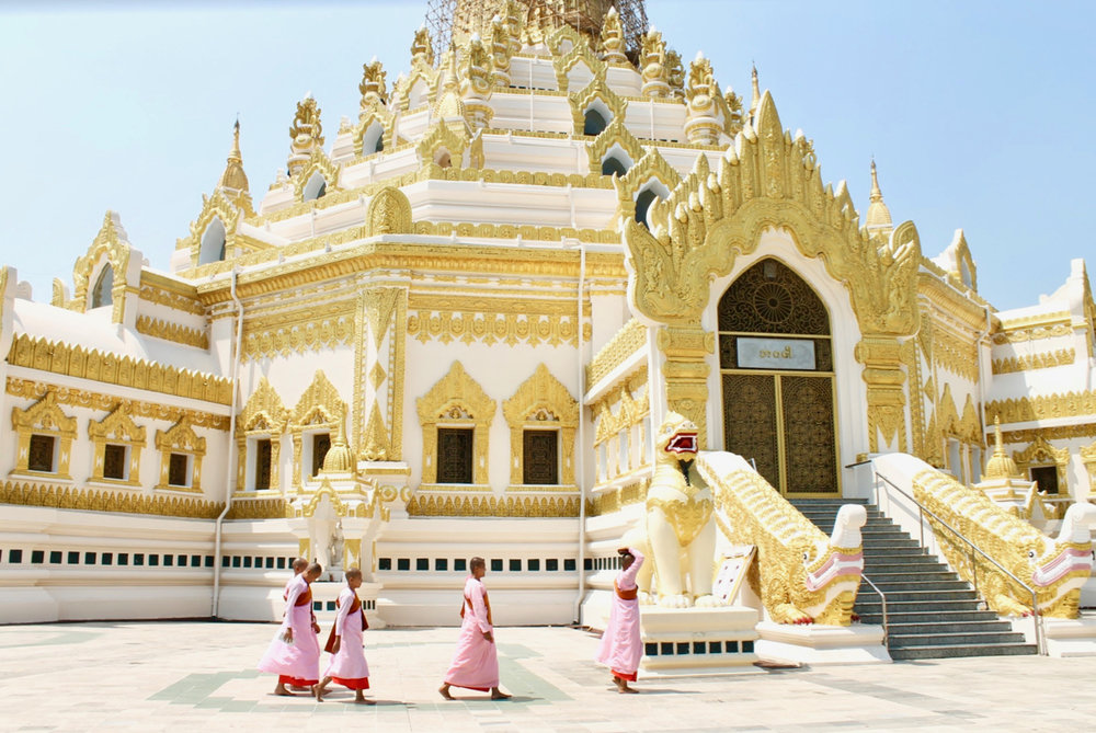 Monks + Shwedagon