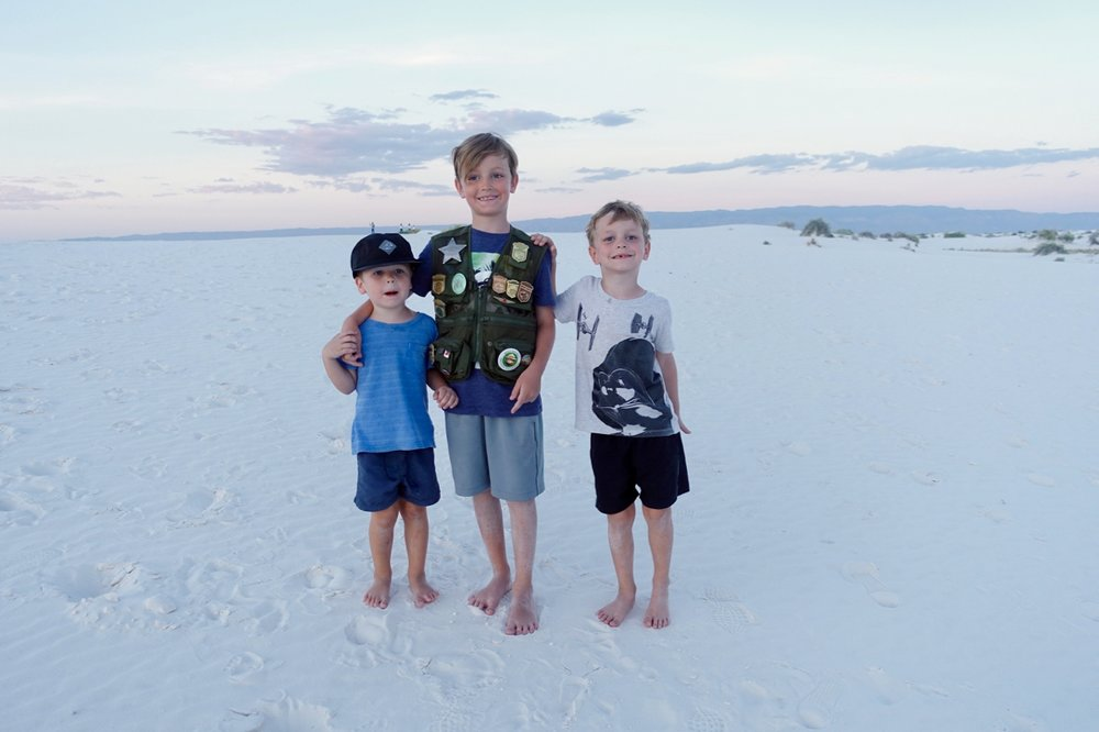 junior rangers at White Sands