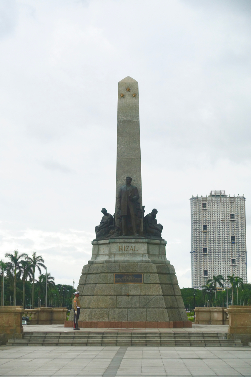 - The Rizal Monument stands proudly with guards around the clock no less. If you're lucky you will see the guards switch between duties.