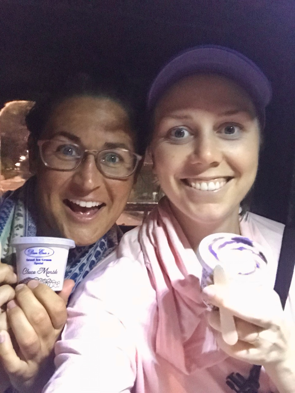 - We pulled over to a small shop ti pick up ice cream and definitely got luke warm cream. Ha! It's a good story though.