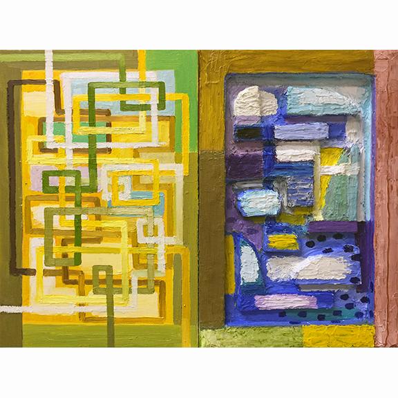 "EAST_SOUTHEAST / Oil on canvas / 20"" x 32"" / 2017"