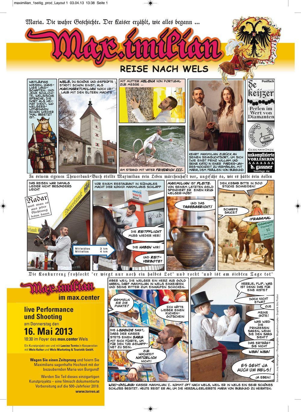Comic Reise nach Wels