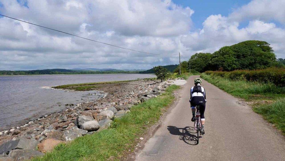 Coastal road near Kirkcudbright
