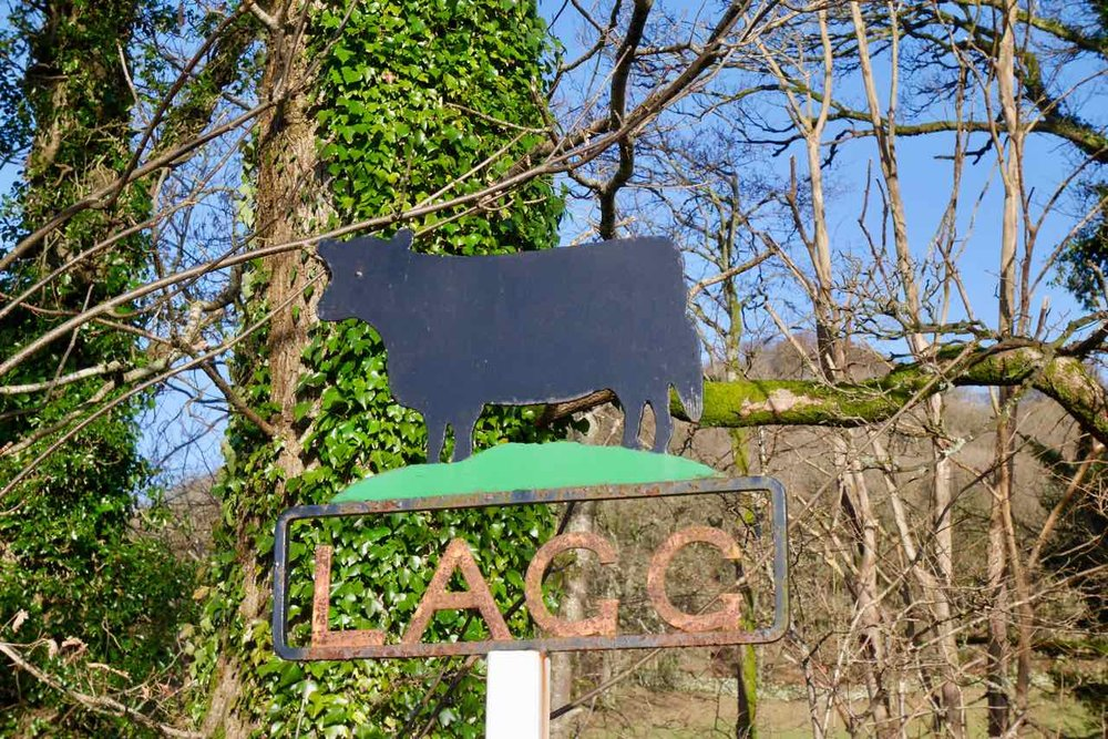 Lagg farm sign