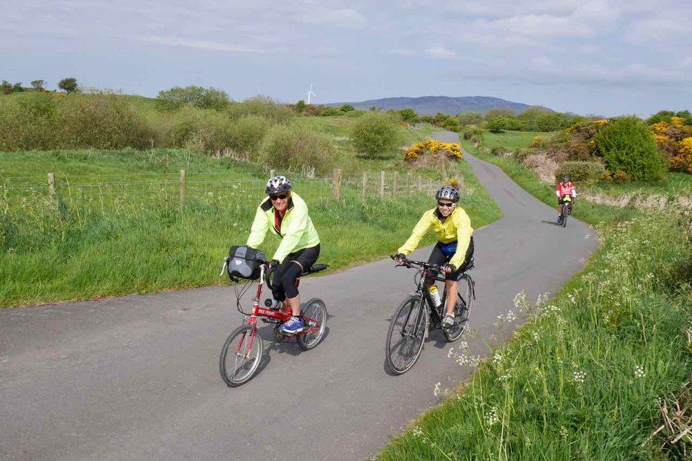 Rural quiet roads of Galloway