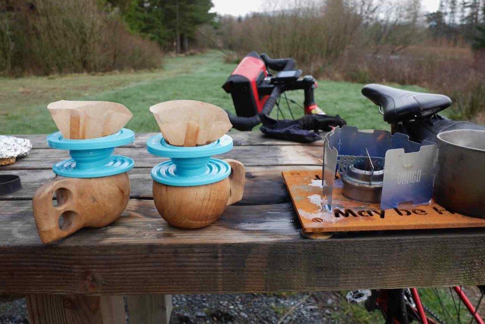 Coffee outdoors
