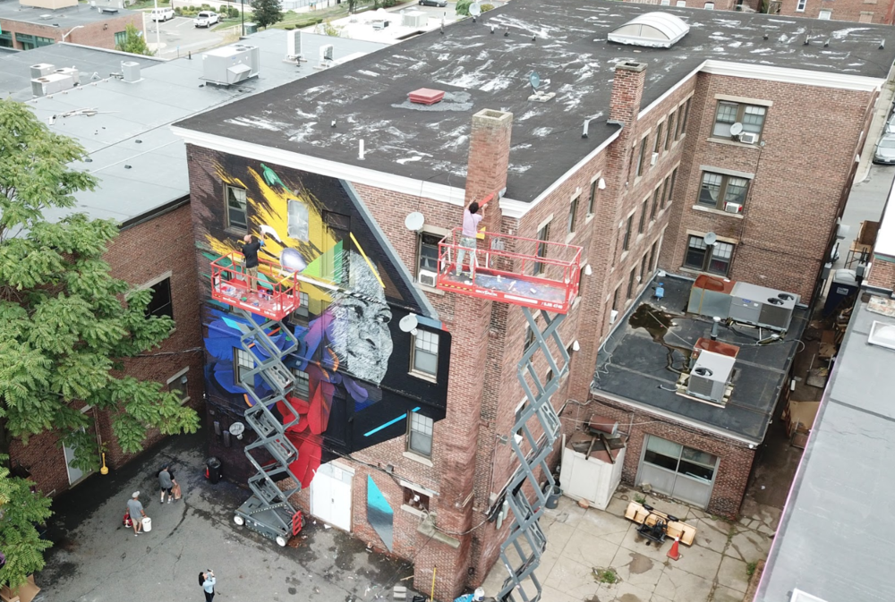 Felipe Ortiz and Ivan Salazar  Punto Urban Art Museum, Salem, Massachusetts.