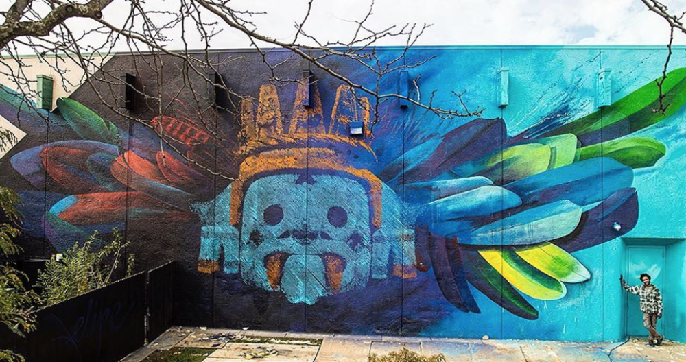 Ivan Salazar & Felipe Ortiz  Mural for the Horiztones Project, Wichita, Kansas, 2018