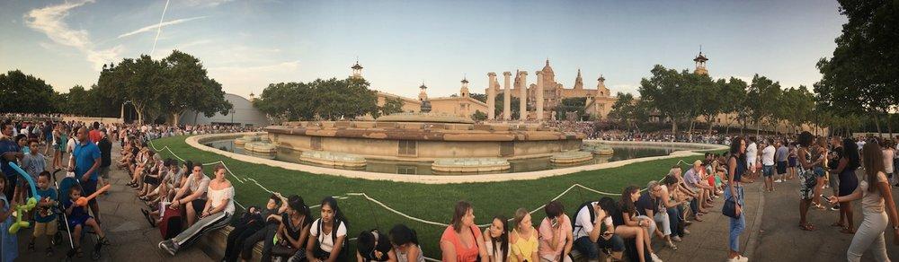 Barcelona Magic Fountain Crowd Pan.JPG