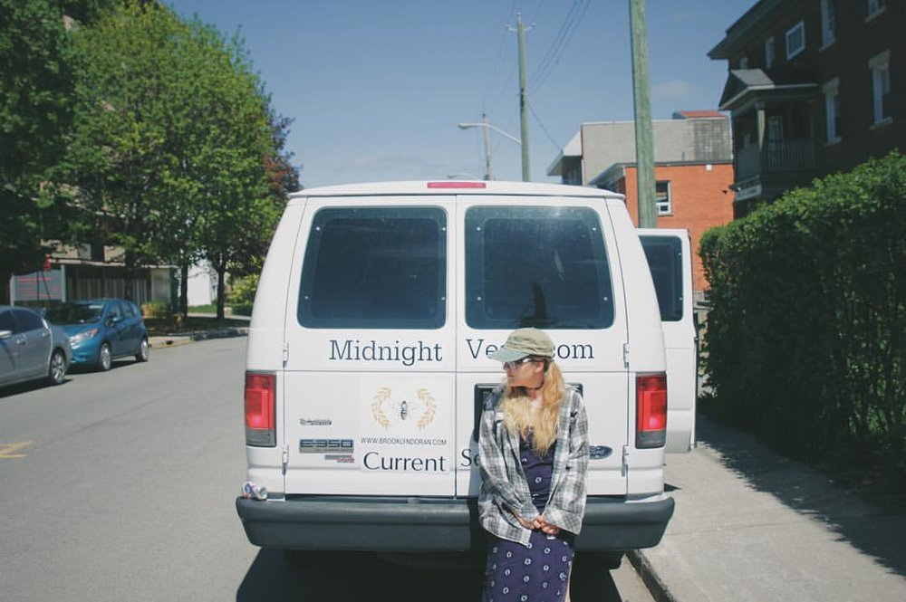 13. - Speaking of,this is our tour van.We named it Mort.