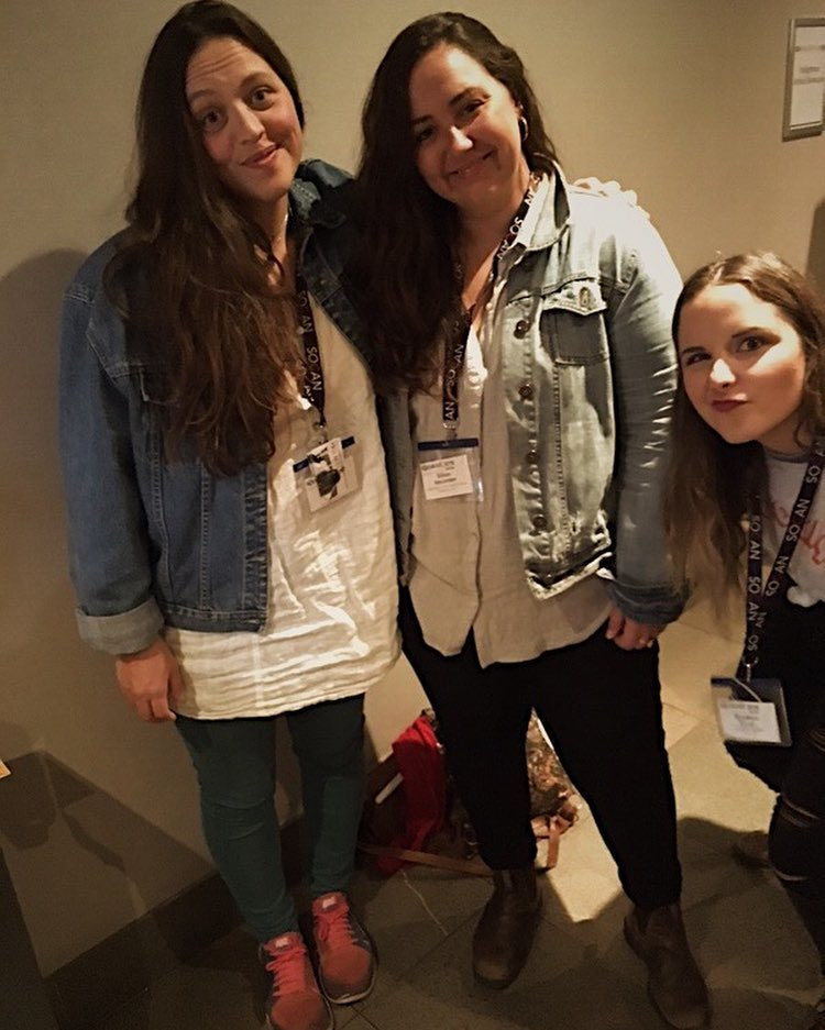 40. - This was my first year performing as part of the Folk Music Ontario Conference. I participated in 4 showcases, and took part in the Art Beat program that brought music to unconventional spaces in need. Here I am photobombing musicians Gillian Nicola, and Piper Hayes in the lobby.