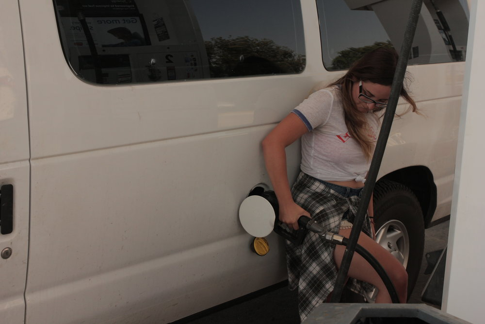 76. - I'm not going to even begin to think about how much time I spent at gas stations this year. Fun fact: this van takes only about $100 to fill, and a tank lasted about 5/6 hours on the highway.