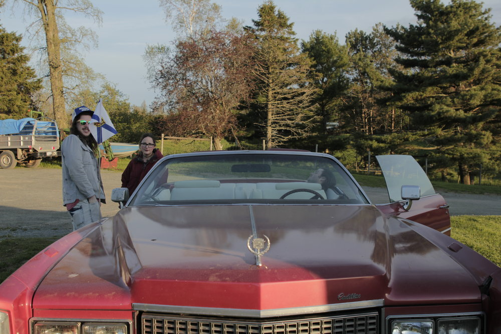 92. - We also took an INTENSE ride in a vintage Cadillac.