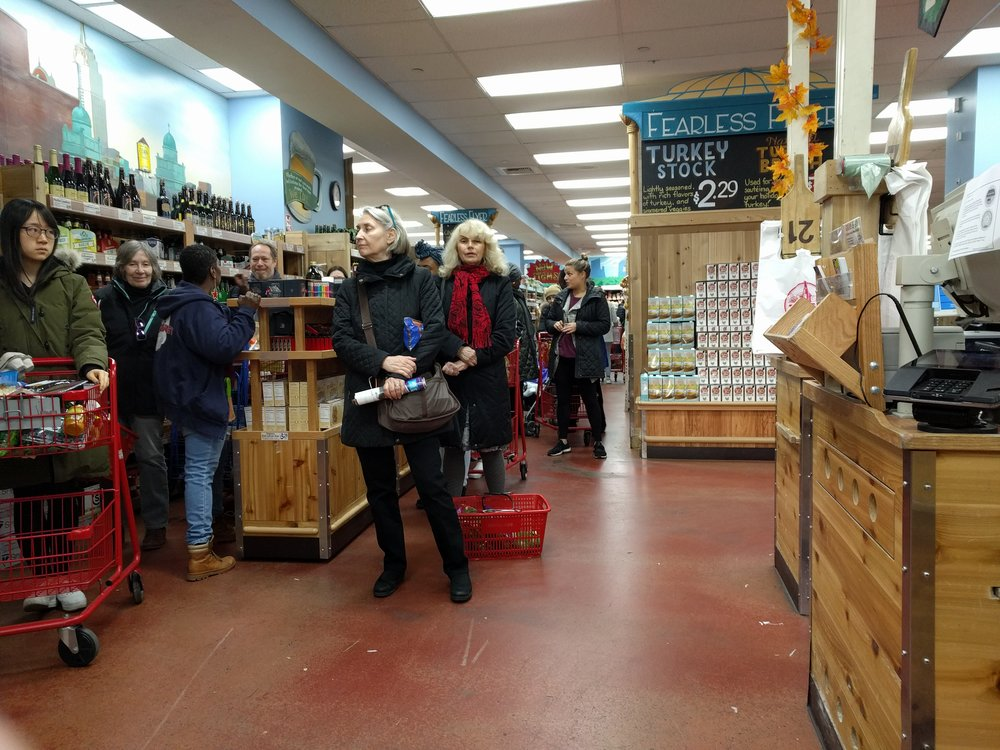 There is always a line at Trader Joe's, because this is New York City (but it moves, it does, and there  are  ways to do it strategically)
