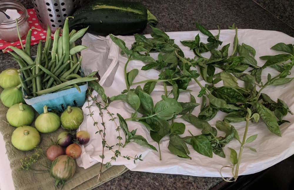 Garden haul, early September 2018
