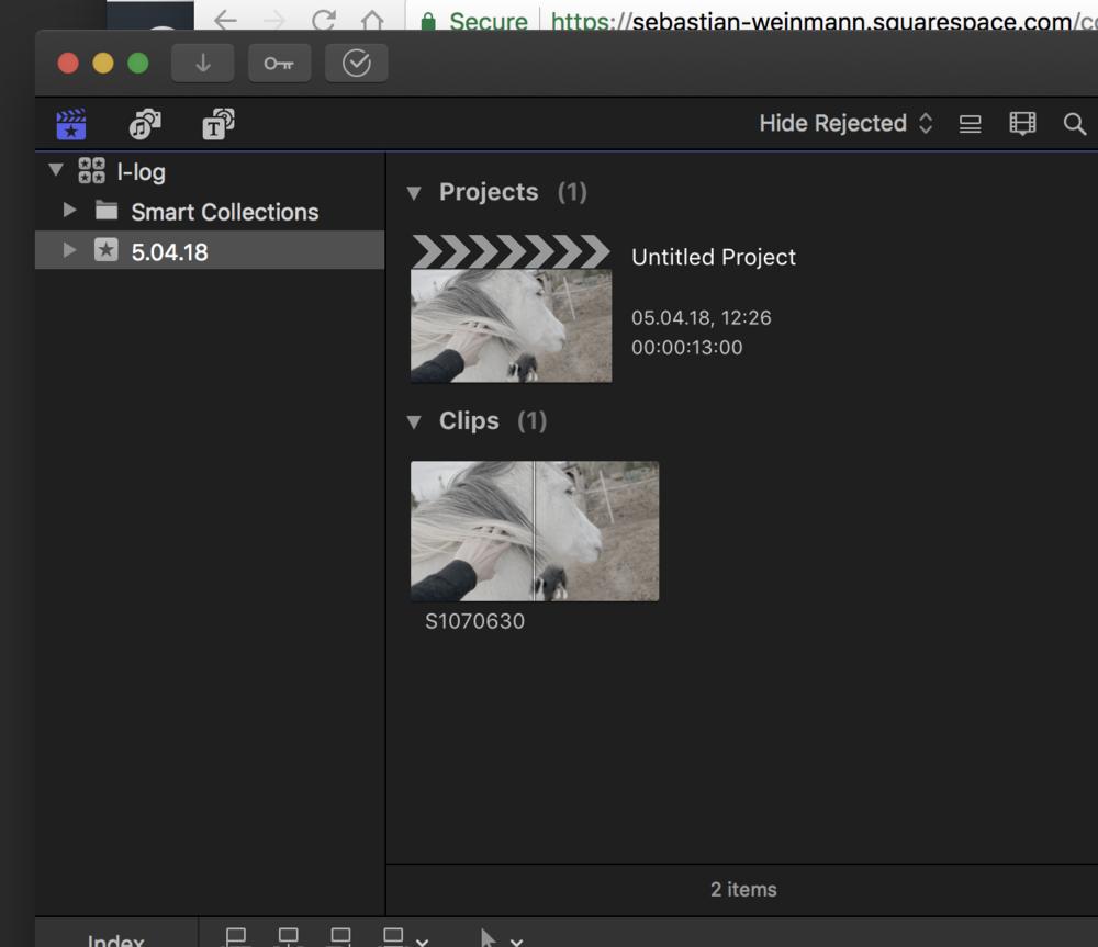Import video