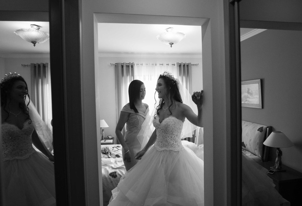 bride reflection
