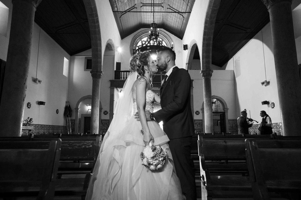 kiss in church