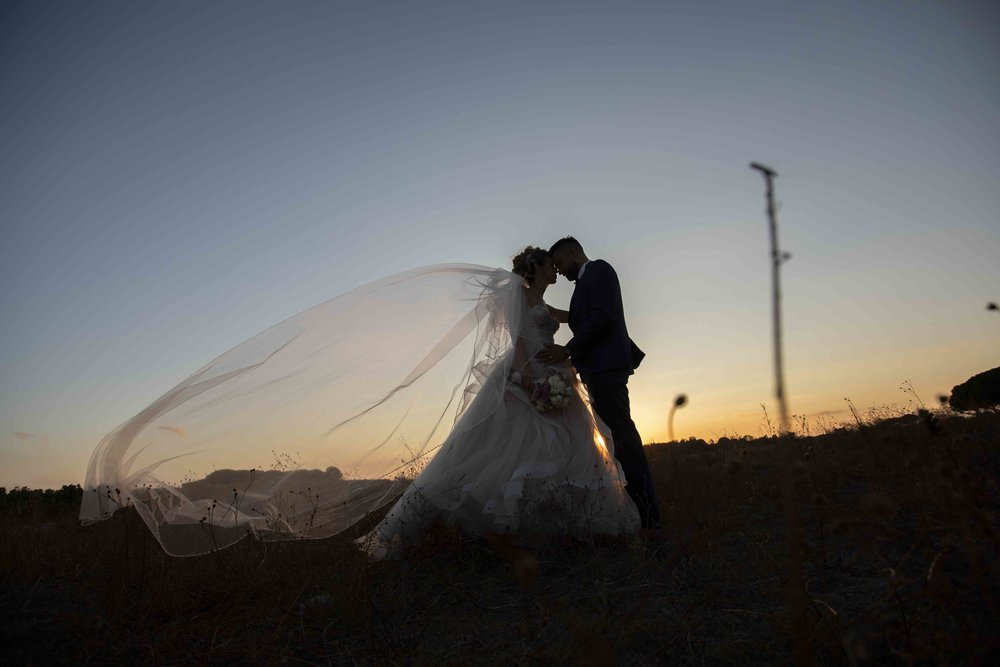 sunset wedding