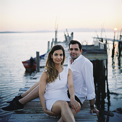 engagement session in sunset comporta