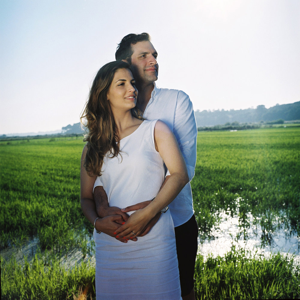 engagement session in rice comporta