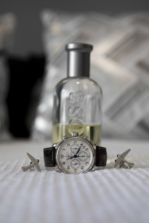 Relogio e perfume