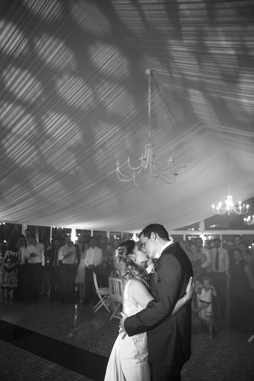 groom and bride dance
